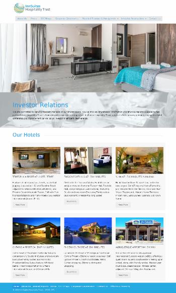 InnSuites Hospitality Trust Website Screenshot
