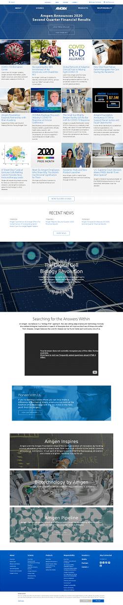 Amgen Inc. Website Screenshot