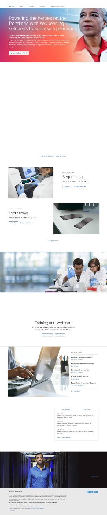 Illumina, Inc. Website Screenshot