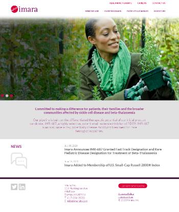 IMARA Inc. Website Screenshot