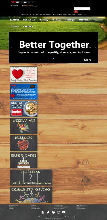 Ingles Markets, Incorporated Website Screenshot
