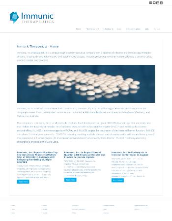 Immunic, Inc. Website Screenshot