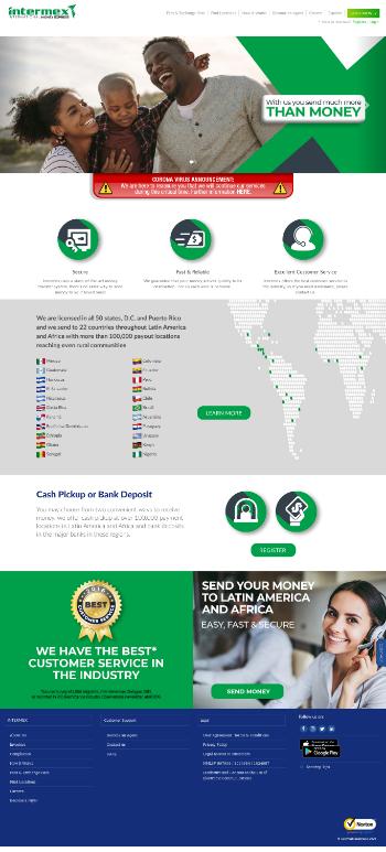 International Money Express, Inc. Website Screenshot