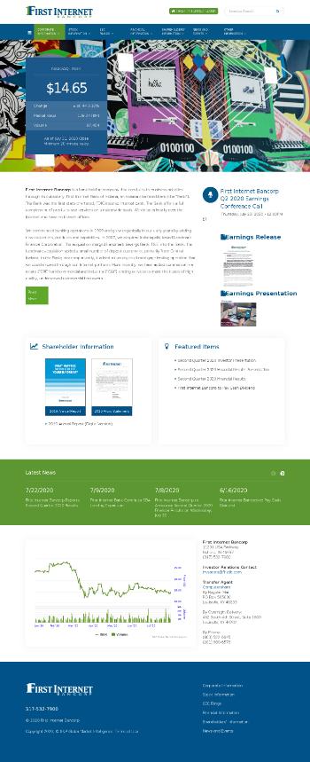 First Internet Bancorp Website Screenshot