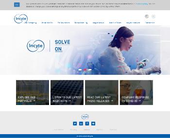 Incyte Corporation Website Screenshot