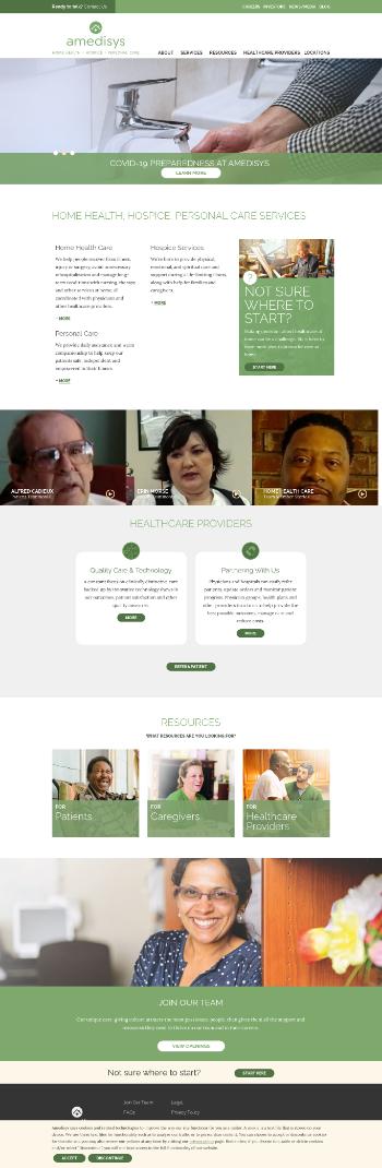 Amedisys, Inc. Website Screenshot
