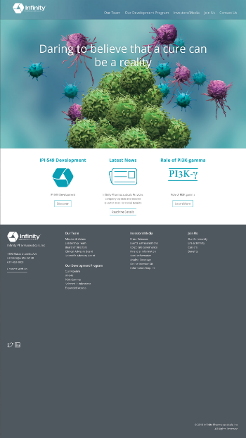 Infinity Pharmaceuticals, Inc. Website Screenshot