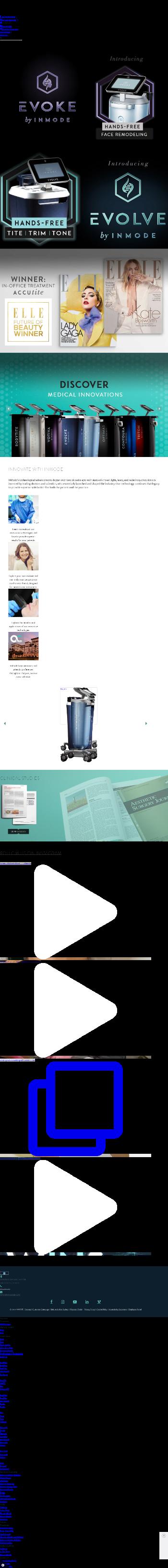InMode Ltd. Website Screenshot