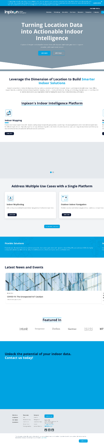 Inpixon Website Screenshot