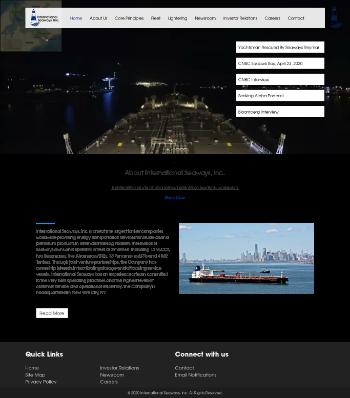 International Seaways, Inc. Website Screenshot