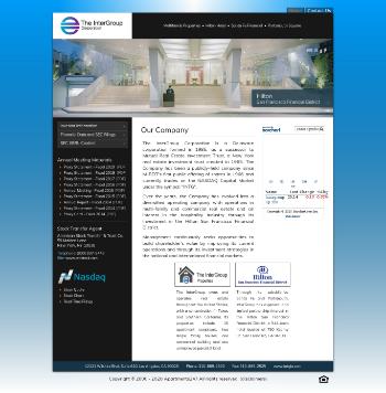 The InterGroup Corporation Website Screenshot