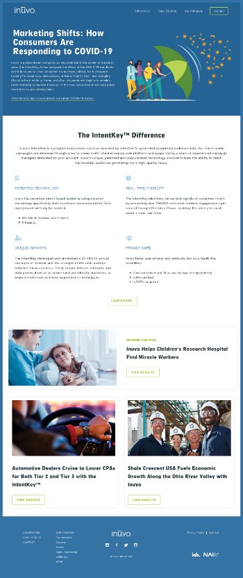 Inuvo, Inc. Website Screenshot