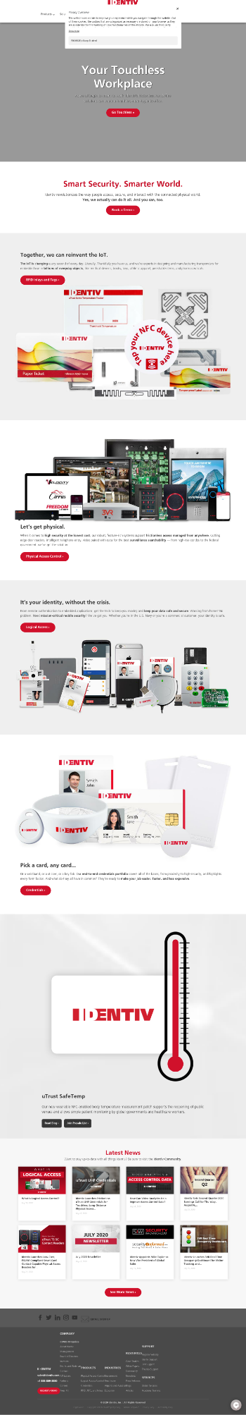 Identiv, Inc. Website Screenshot