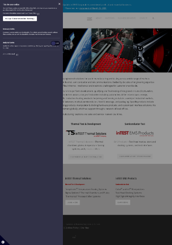 inTEST Corporation Website Screenshot