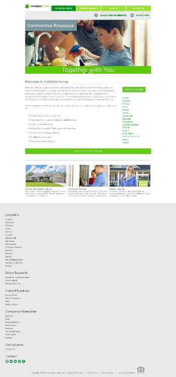 Invitation Homes Inc. Website Screenshot