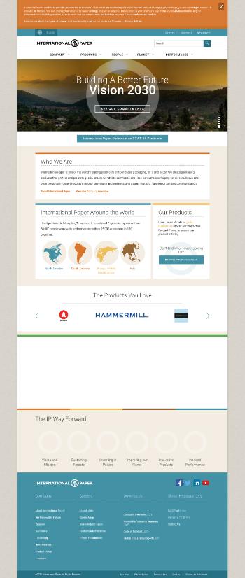 International Paper Company Website Screenshot
