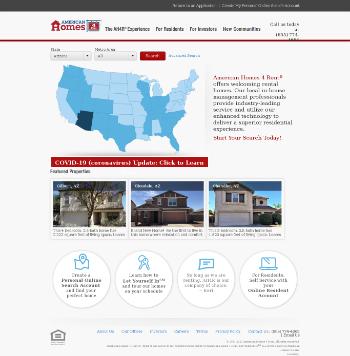 American Homes 4 Rent Website Screenshot