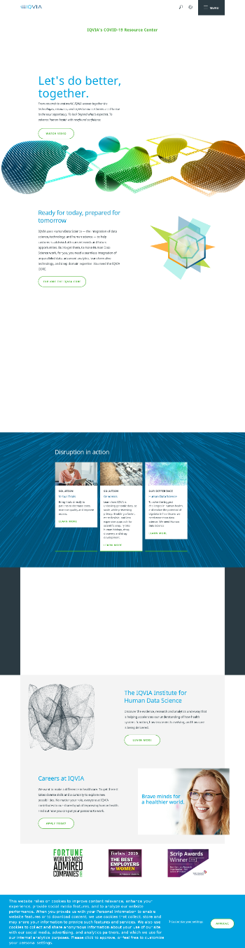 IQVIA Holdings Inc. Website Screenshot