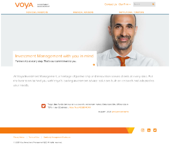 Voya Natural Resources Equity Income Fund Website Screenshot