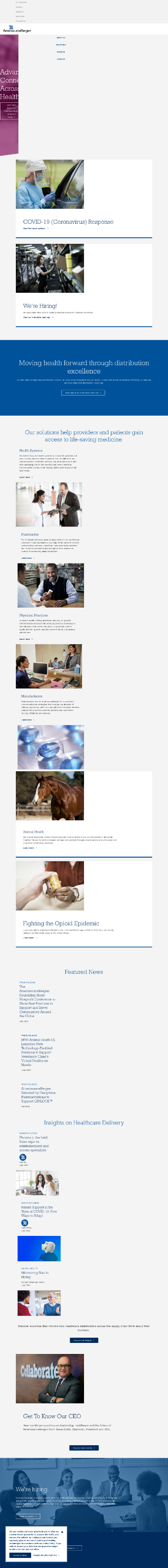 AmerisourceBergen Corporation Website Screenshot