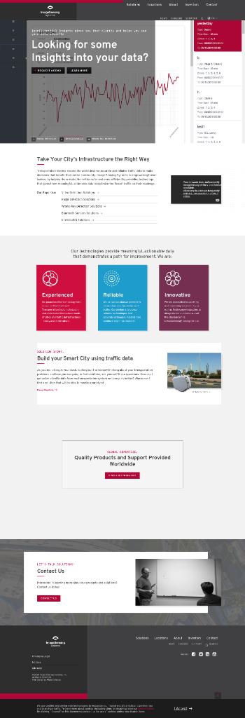 Image Sensing Systems, Inc. Website Screenshot