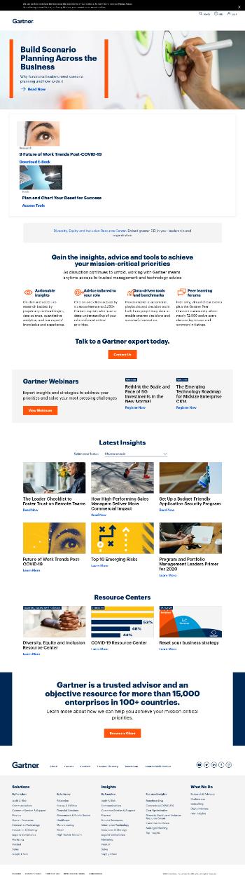 Gartner, Inc. Website Screenshot