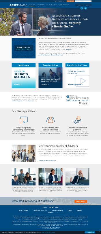 AssetMark Financial Holdings, Inc. Website Screenshot