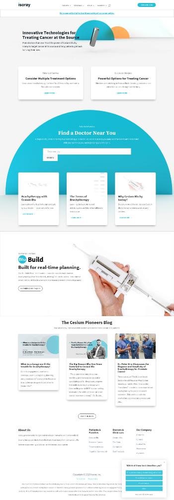 IsoRay, Inc. Website Screenshot