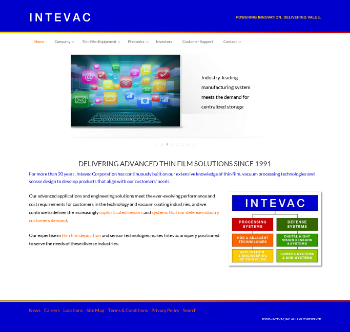 Intevac, Inc. Website Screenshot