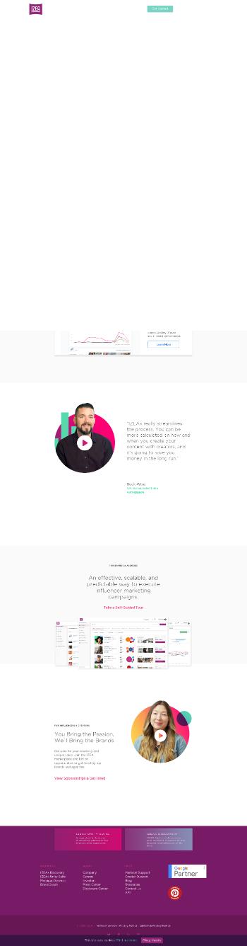 IZEA Worldwide, Inc. Website Screenshot