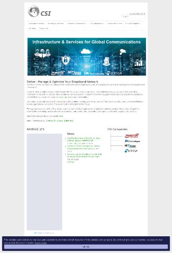 Communications Systems, Inc. Website Screenshot