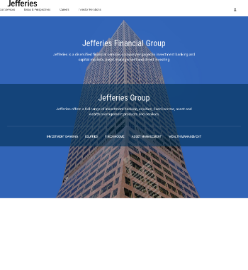 Jefferies Financial Group Inc. Website Screenshot