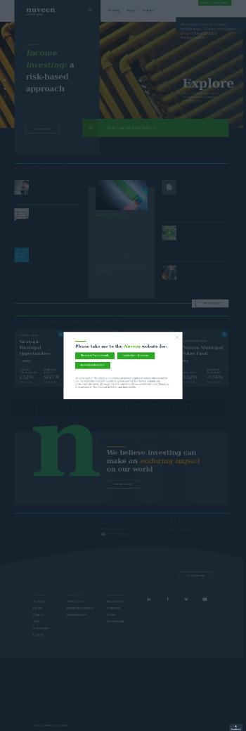 Nuveen Global High Income Fund Website Screenshot