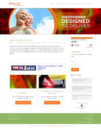 Ampio Pharmaceuticals, Inc. Website Screenshot