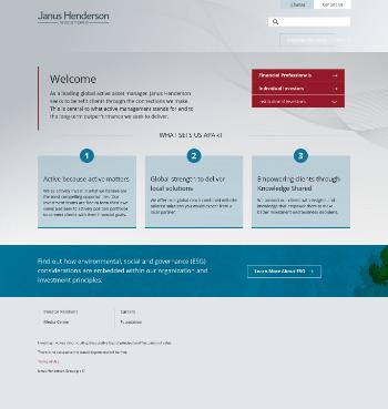 Janus Henderson Group plc Website Screenshot