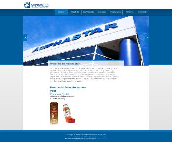 Amphastar Pharmaceuticals, Inc. Website Screenshot