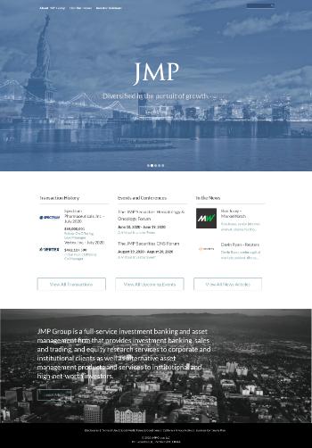 JMP Group LLC Website Screenshot