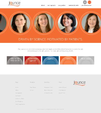 Jounce Therapeutics, Inc. Website Screenshot