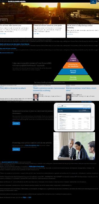 Ameriprise Financial, Inc. Website Screenshot