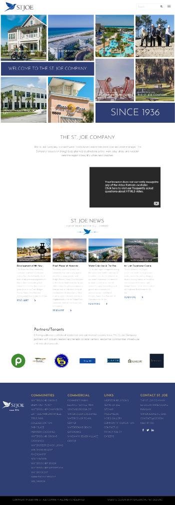 The St. Joe Company Website Screenshot