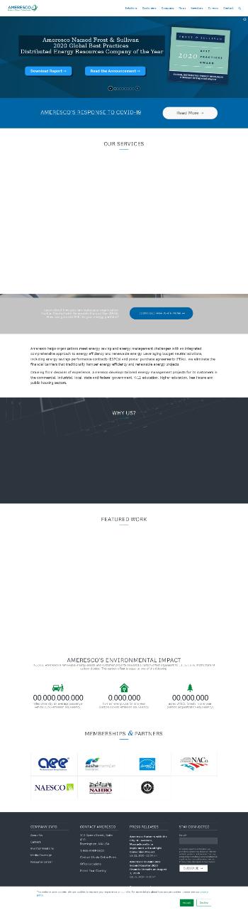 Ameresco, Inc. Website Screenshot