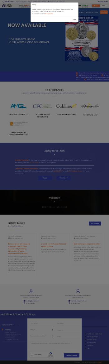 A-Mark Precious Metals, Inc. Website Screenshot