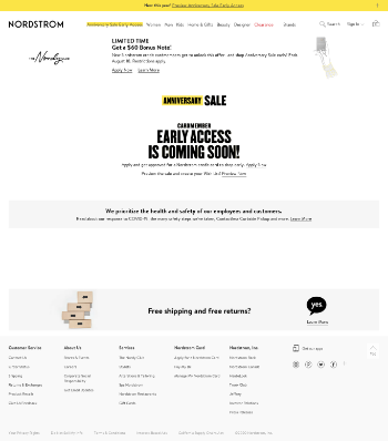 Nordstrom, Inc. Website Screenshot