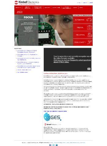 Kimball Electronics, Inc. Website Screenshot