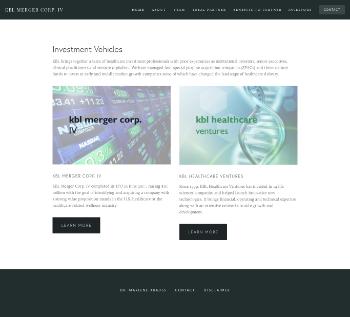 KBL Merger Corp. IV Website Screenshot