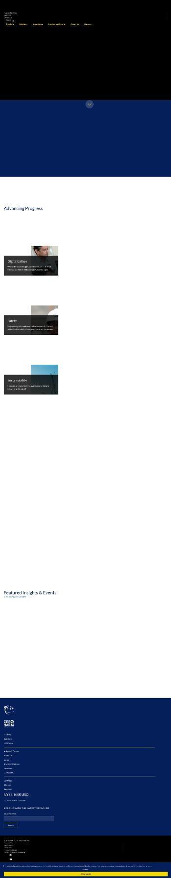 KBR, Inc. Website Screenshot