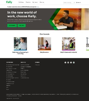 Kelly Services, Inc. Website Screenshot