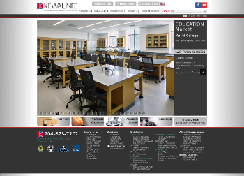 Kewaunee Scientific Corporation Website Screenshot