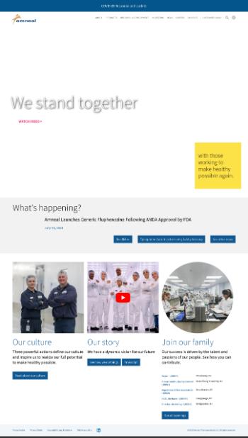 Amneal Pharmaceuticals, Inc. Website Screenshot