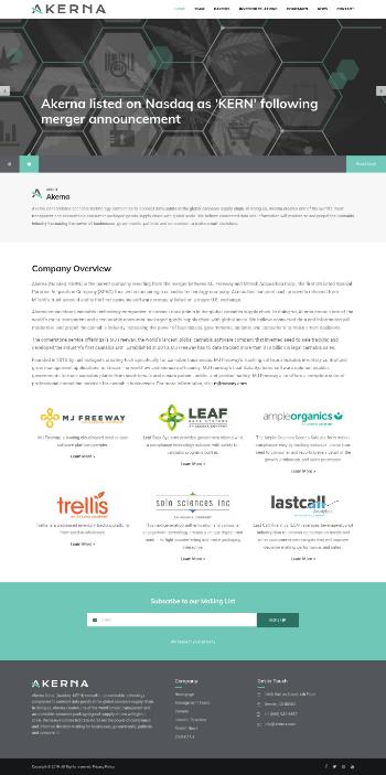 Akerna Corp. Website Screenshot